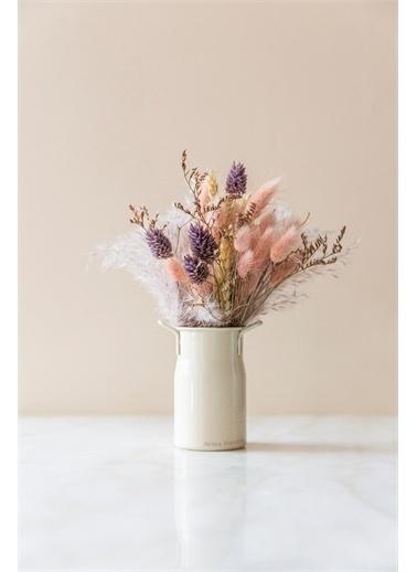 Arma House Country Tarzı Krem Rengi Mini Sunumluk Güğüm Vazo * 9 Cm Renkli